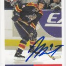 Jay Boumeester Signed Panthers Card Blues