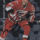 Kent Manderville Signed Hurricanes Card Penguins - Flyers - Espoo