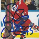 Patrice Brisebois Signed Canadiens Card