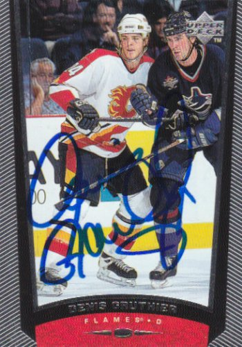 Denis Gauthier Signed Flames Card Flyers