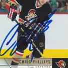 Chris Phillips Signed Ottawa Senators Card