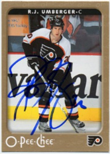 R J Umberger Signed Flyers Card