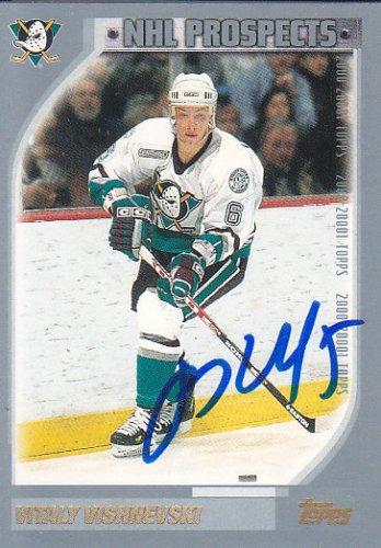 Vitaly Vishnevski Signed Mighty Ducks Card Yaroslavl Lokomotiv