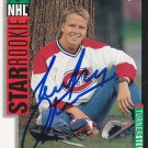 Turner Stevenson Signed Canadiens Star Rookie Card