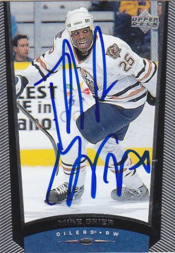 Mike Grier Signed Oilers Card