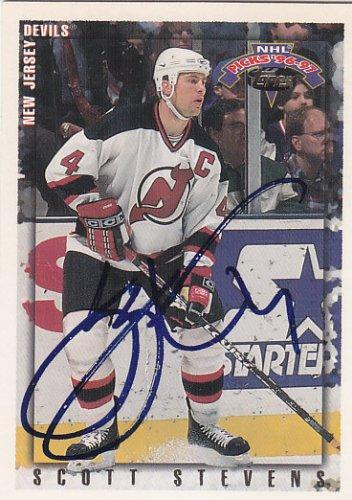 Scott Stevens Signed Devils Card