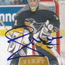 Johan Hedberg Signed Penguins Card Thrashers - Devils