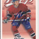 Mike Komisarek Signed Canadiens Card Hurricanes