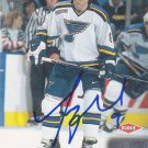 Tyson Nash Signed Blues Card Coyotes