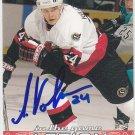 Anton Volchenkov Signed Senators Card Predators