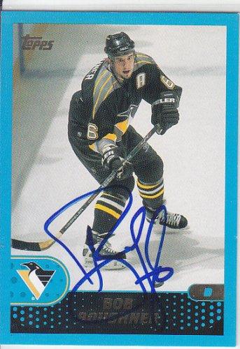 Bob Boughner Signed Penguins Card Sharks