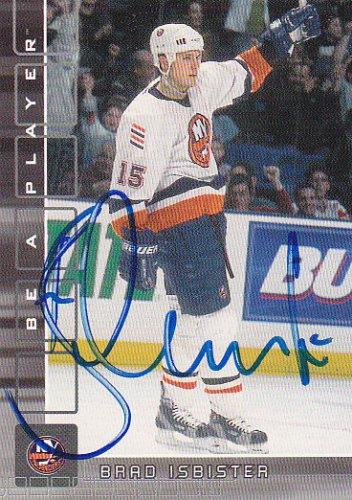 Brad Isbister Signed Islanders Card Zug
