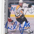Milan Kraft Signed Penguins Card Chomutov