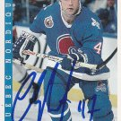 Claude Lapointe Signed Nordiques Card Islanders