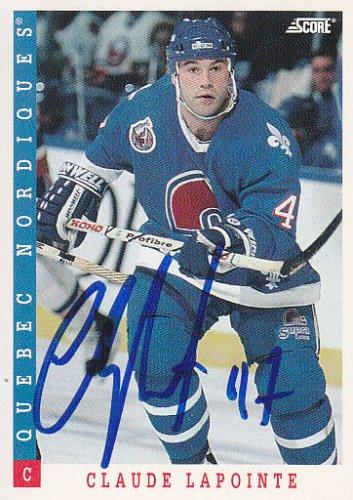 Claude Lapointe Signed Nordiques Card Islanders