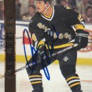 Ian Moran Signed Penguins Card Bruins