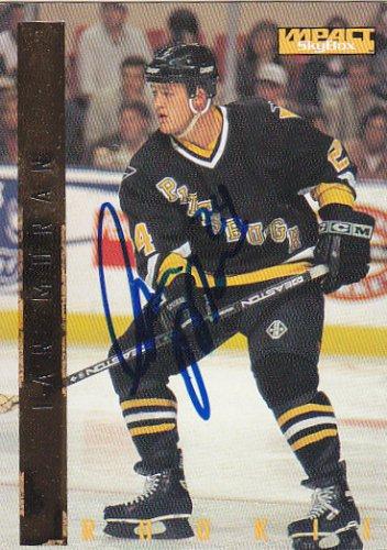 Ian Moran Signed Penguins Card Bruins
