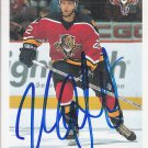Kristian Huselius Signed Panthers Card Flames - Blue Jackets