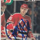 Tommy Albelein Signed Devils Card Flames