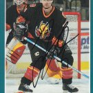Jordan Leopold Signed Flames Card Penguins - Wild