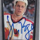 Steve Begin Signed 1998-99 UD Flames Card