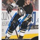 Simon Despres Signed Penguins Card Anaheim Ducks