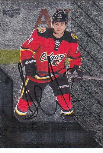 Jiri Hudler Signed Flames Card Stars