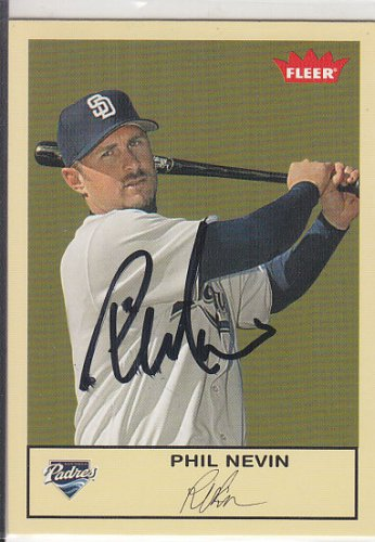 Phil Nevin Signed Fleer Padres Card
