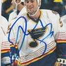 Jeff Norton Signed Blues Card Islanders