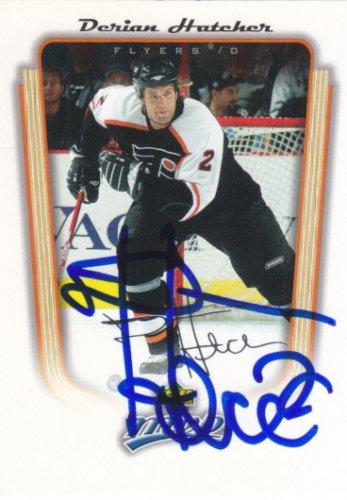 Derian Hatcher Signed Flyers Card Stars