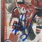 Mike Dunham Signed Devils Card Predators