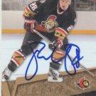 Todd White Signed Senators Card Blackhawks
