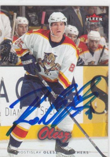 Rostislav Olesz Signed Panthers Card Vitkovice
