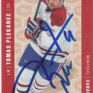 Tomas Plekanec Signed Canadiens Card