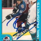 Rick Berry Signed 01-02 Prospects Card Avalanche