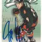 Jeff Taffe Signed MVP Coyotes Card Penguins
