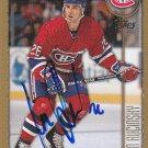 Martin Rucinsky Signed Topps Canadiens Card Litvínov