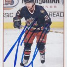 Andrew Cassels Signed Blue Jackets Card Canucks - Whalers