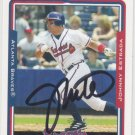 Johnny Estrada Signed Atlanta Braves Card