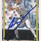 Dale Sveum Autograph 1992 Topps Brewers Card Pirates