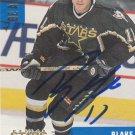 Blake Sloan Autograph 99-00 BAP Stars Card Adler Mannheim - Wolfsburg