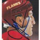 Tim Hunter Autograph 91-92 UD Flames Card Canucks