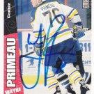 Wayne Primeau Autograph Sabres Card Penguins - Sharks - Flames