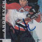 Dave Andreychuk Autograph 97-98 UD Devils Card Sabres - Maple Leafs
