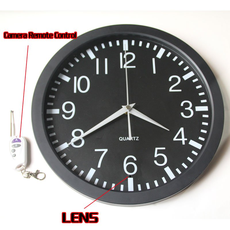 Wall Clock Hidden Spy Camera DVR with Internal Momory 32GB Motion Activated 1080P