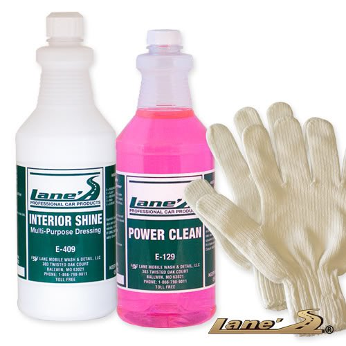 auto interior shine auto detail microfiber gloves and vinyl cleaner kit 16oz. Black Bedroom Furniture Sets. Home Design Ideas