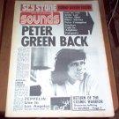 Sounds Magazine 1973 UK Led Zeppelin Status Quo Peter Frampton Sly Stone Poster