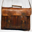 Real Genuine Leather Vintage Messenger Bag Cross Body Shoulder Messenger Bag
