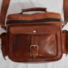 Indian Real Goat Leather Handmade Vintage Messenger Satchel Shoulder Camera Bag