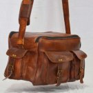 Real Leather Handmade Satchel Bag Briefcase Shoulder Messenger Camera Bag